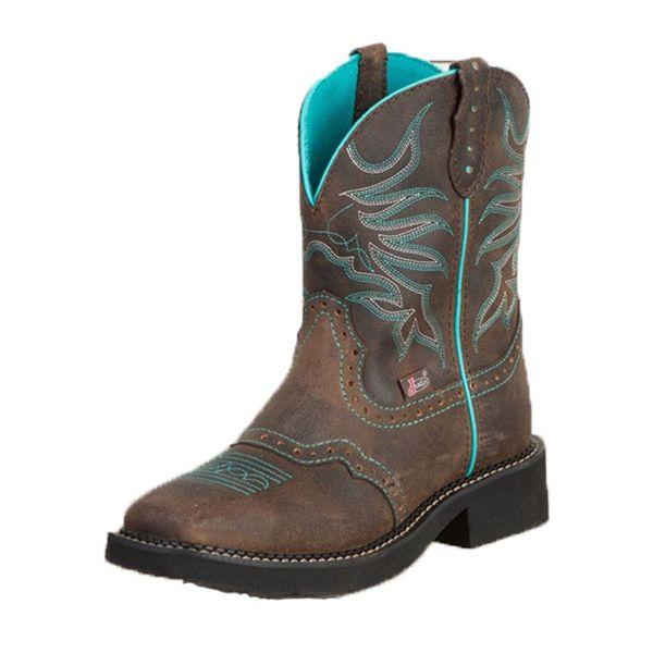 Justin Women's Chocolate Puma Gypsy Cowgirl Boots [L9624]