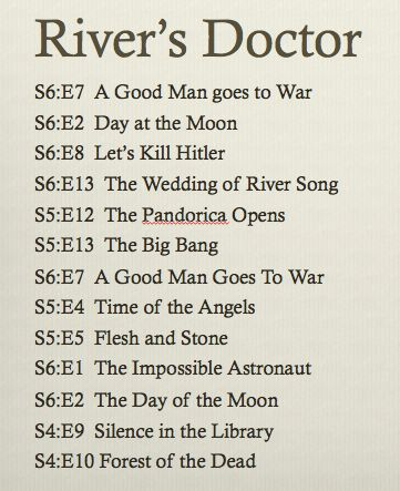 River song's perception of her timeline with the doctor, This is what they show...Mind you there may be other options
