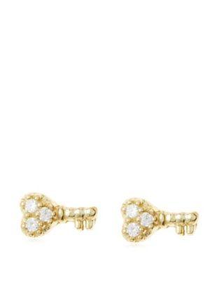 Fraydee Collection Heart Key Earrings