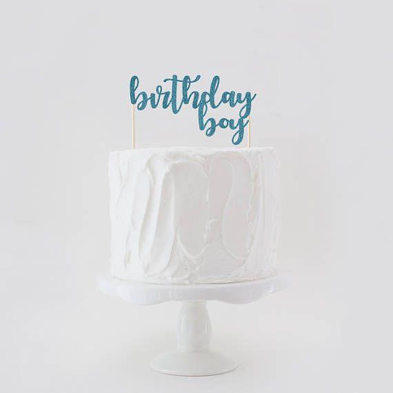 Birthday Boy Double Sided Glitter Birthday Cake Topper