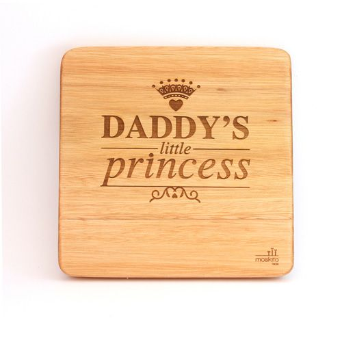 """""""Daddy's little princess"""". A beautiful statement that's just absolutely true. Just perfect for a little girl's room."""