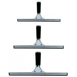Limpia cristales de acero inoxidable completo (empuñadura + soporte con goma) de diferentes medidas.