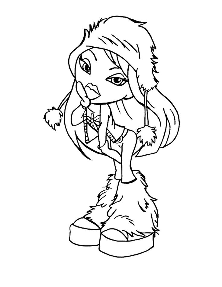 bratz the group coloring pages - photo#17