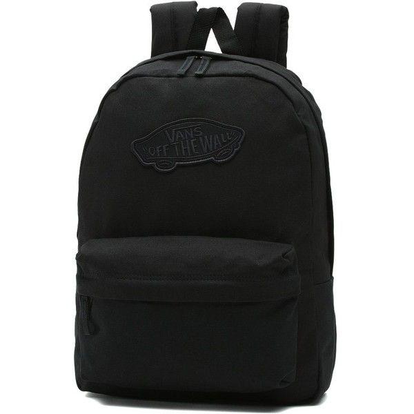 Vans Realm Backpack (655 EGP) ❤ liked on Polyvore featuring bags, backpacks, black, vans backpacks, daypack bag, rucksack bags, backpack bags and knapsack bag