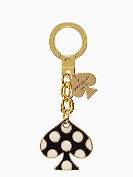 we love polka dots (in all iterations) but we love them even more when they're cleverly captured in our signature spade. the best part of this whimsical key chain? the playful dots pop against the bottom of any bag, making finding your keys a little bit easier.