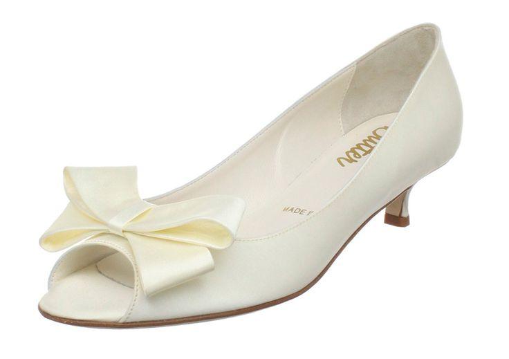 Cass by Something Bleu  Diamond white silk. Fully dyeable 3cm heel. Sizes 35-41 Our best seller!