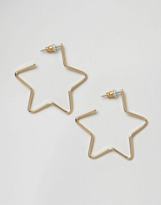 ASOS | ASOS Star Hoop Earrings