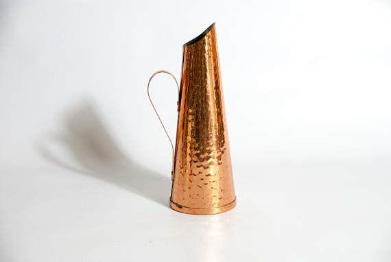 Vintage copper vase / COPPER FLOWER VASE / copper pitcher /