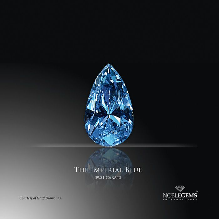 the quotgraff imperial bluequot diamond is a 3981carat pear