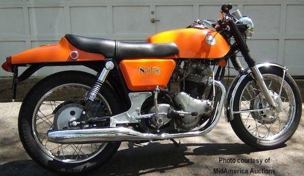 1974 Orange Norton Comando Roadster