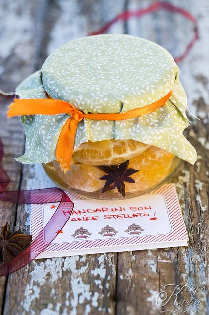 mandarini con anice stellato by Elisakitty's Kitchen, dolci regali in vetro per Natale