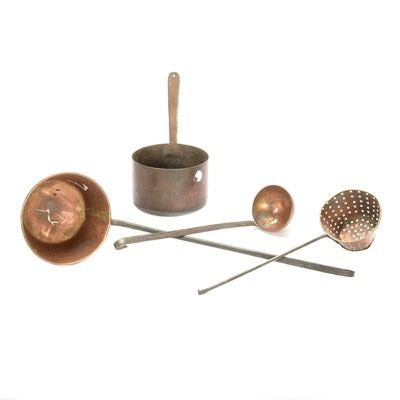 Four Early Copper Ladles