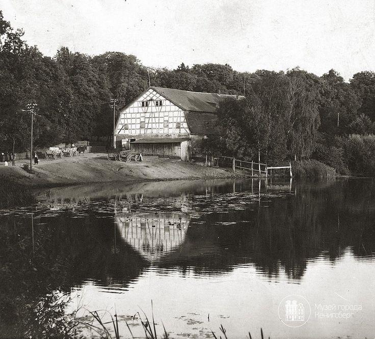 Гердауен – Железнодорожный. Амбар на берегу мельничного пруда. Фото ок. 1910 г/