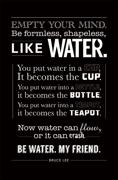 Best 25 Bruce lee water quote ideas on Pinterest Bruce lee