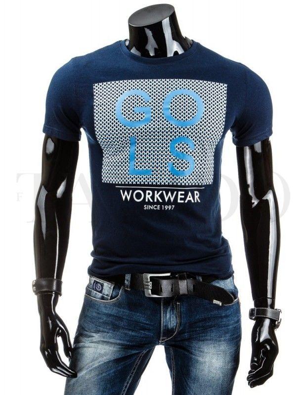 Pánské tričko - Yves, tmavě modré