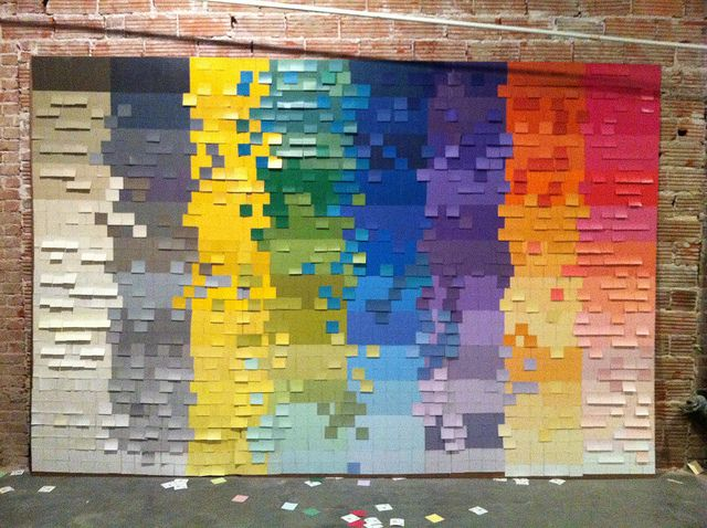 Awesome paint chip photo backdrop by @karapaslay @designdouspart