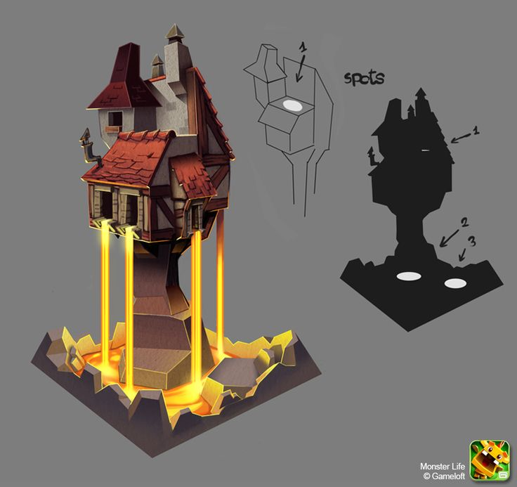 Monster Life - Medieval - Magic Tower by ~joslin on deviantART