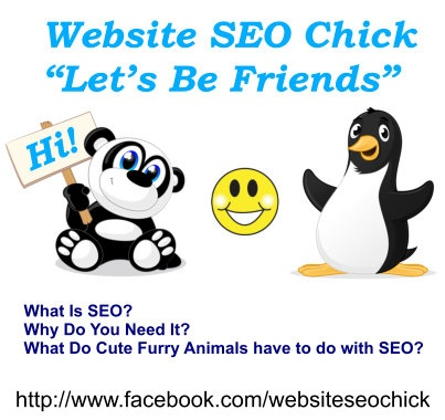 Website SEO - What is SEO? Why do you need it? What do cute furry animals have to do with SEO? Visit our FB page  http://www.facebook.com/websiteseochick