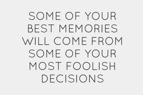About memories and decisions...
