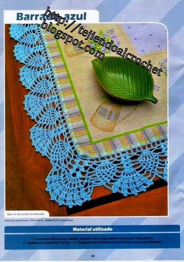 crochet - bicos/barrados com cantos - corners - Raissa Tavares - Picasa webbalbum