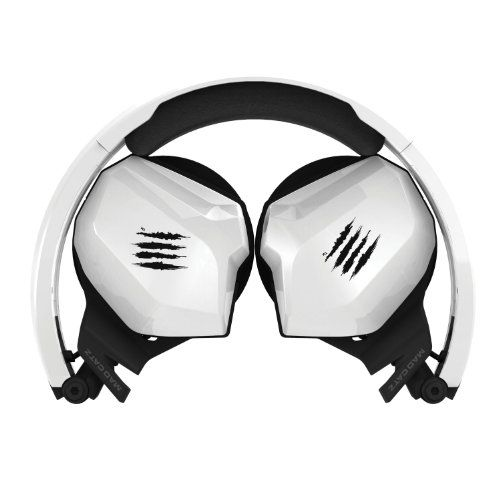 Mad Catz F.R.E.Q. M Mobile Stereo Headset for PC/Mac, iPhone 7 , Android, Samsung Mobile Device - Foldable Headphones in Gloss White