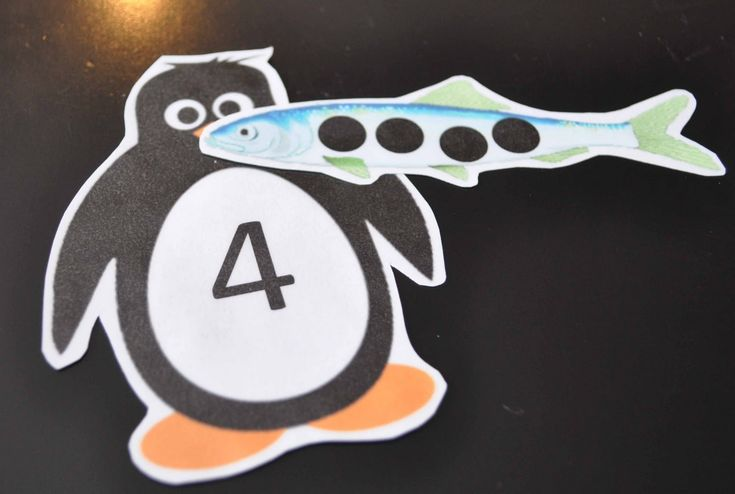 Number recognition and counting. Children's Learning Activities: Feed The Penguin