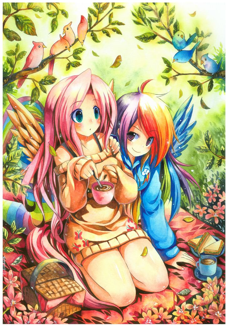 Sexy human fluttershy and rainbow dash