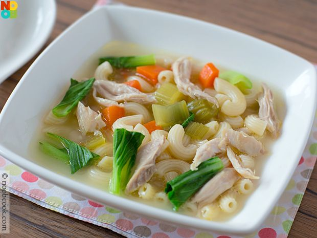 Comfort food at its best: Macaroni cooked in home-made chicken stock.