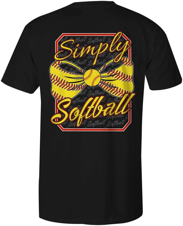 SIMPLY SOFTBALL SHIRT THAT WE DESIGNED AND PRINTED.  IF YOU CAN PUT TOGETHER AN ORDER OF 24 SHIRTS OR MORE WE CAN REPRINT THIS SHIRT.