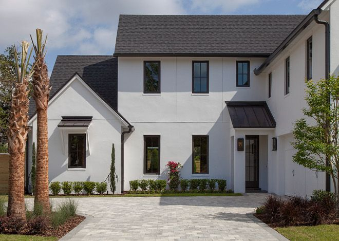 White Stucco Farmhouse
