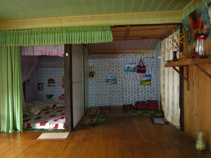 La chambre de la maison de M.Tu à Mu Cang Chai