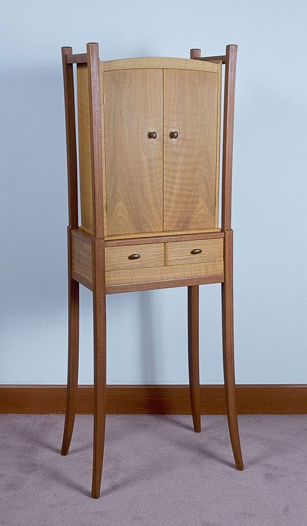 Teak And Oak Cabinet, James Krenov, 1989 Amazing Design