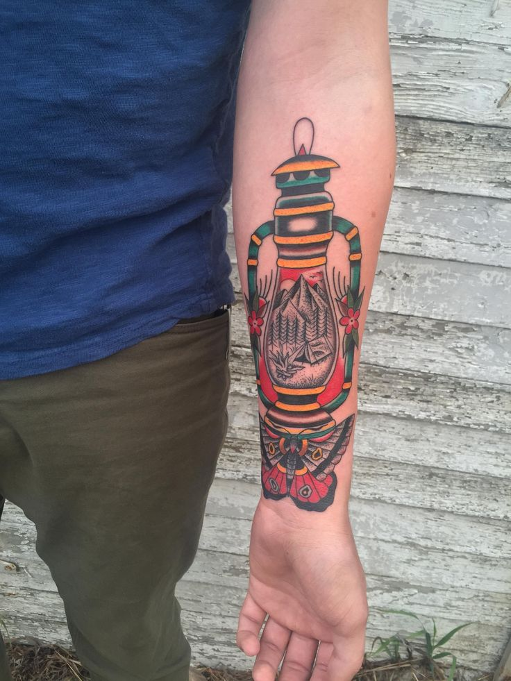 Lantern by Nick Luit at Scythe and Spade Tattoo in Calgary AB