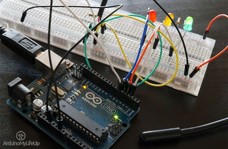 A simple Arduino temperature sensor tutorial that takes you through all the steps of getting the DS18B20 hooked up. You also learn how to access and process the data from the device.