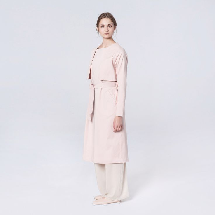 Elementy Wave Trench Pale Pink