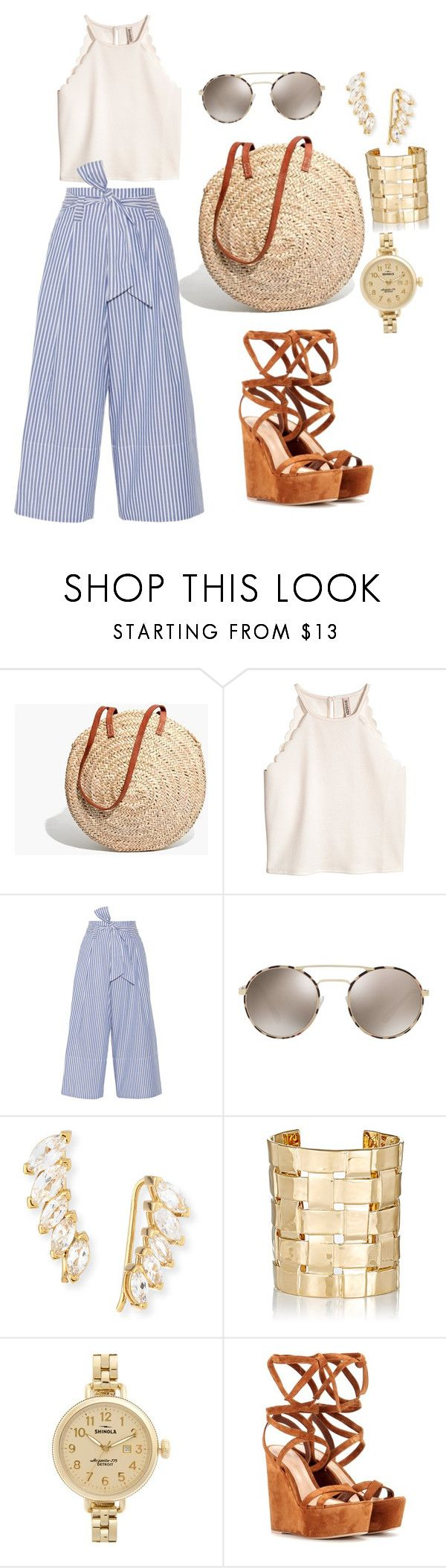 """""""My Arrival to the Hamptons"""" by design360 ❤ liked on Polyvore featuring Madewell, By Malene Birger, Prada, Jennifer Zeuner, Aurélie Bidermann, Shinola and Gianvito Rossi"""