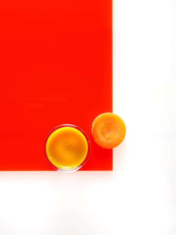 Gulerodsjuice med æble og ingefær