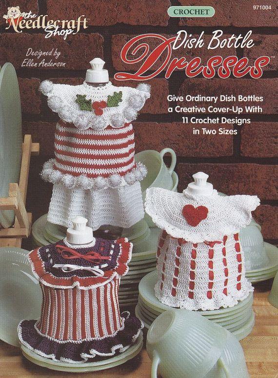 17 Best images about Crochet Kitchen -- Dish Bottle Aprons ...