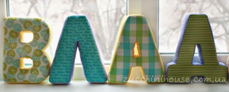 Домик маленького Цукиня: буквы из ткани