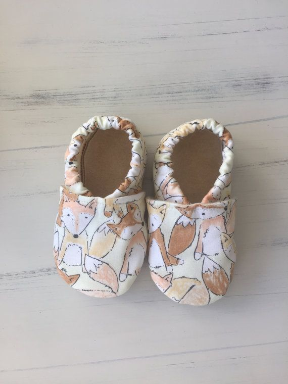 Fox Baby Booties / Gender Neutral Baby Shoes/ by ForSunandLace
