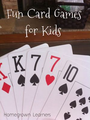 Have some FUN with Cards! - Home - Homegrown Learners