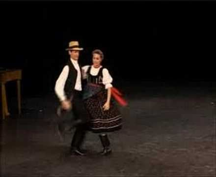 "Hungarian folk dance, ""Csillagszemű - Vajdakamarási pár"" couple dance."