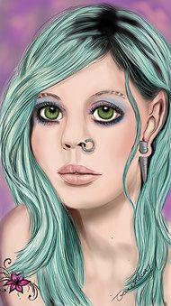 pierced Fairy girl print by majikalwhispers on Etsy