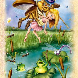 Дюймовочка( вариант-жуки  милые и добродушные;))