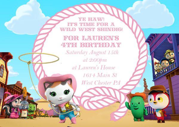 Sheriff Callie Birthday Party Invitation
