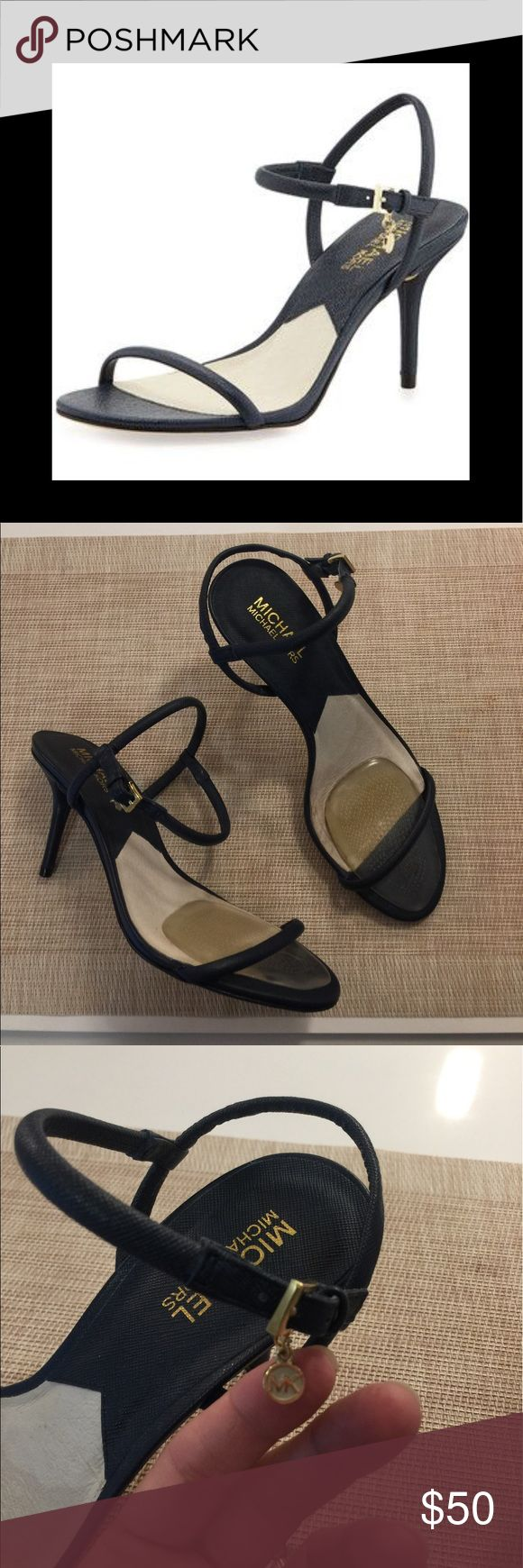 Michael Kors Heels Michael Michael Kors Carlene Navy Heels. Wore a few times, but in great condition. I added gel insole for comfort and fit. Size marked  8 1/2 but fits more like an 8. MICHAEL Michael Kors Shoes Heels