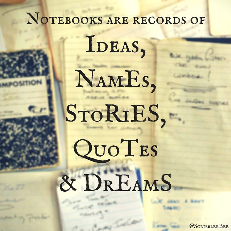Notebooks... I could go on and on about their importance!!! https://www.tumblr.com/blog/scribblerbee-things