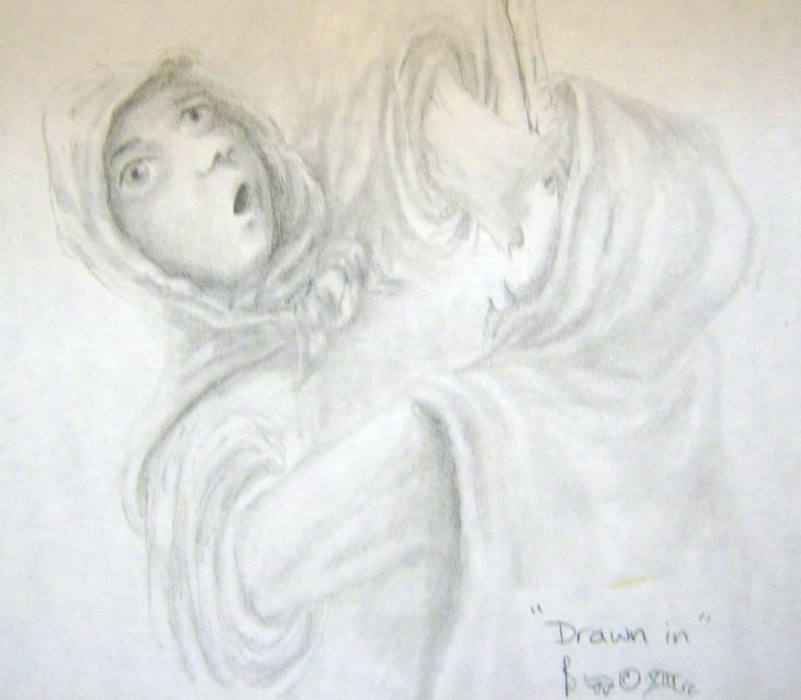 """Drawn In"" pencil Aprox 5 x 8"""