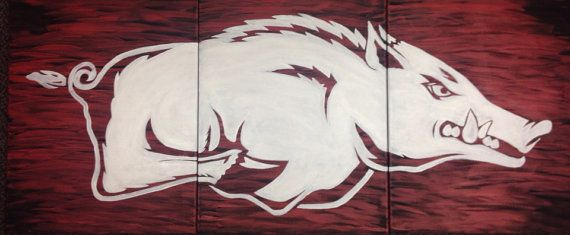 Arkansas Razorback Painting by ThaxtonsCrafts on Etsy