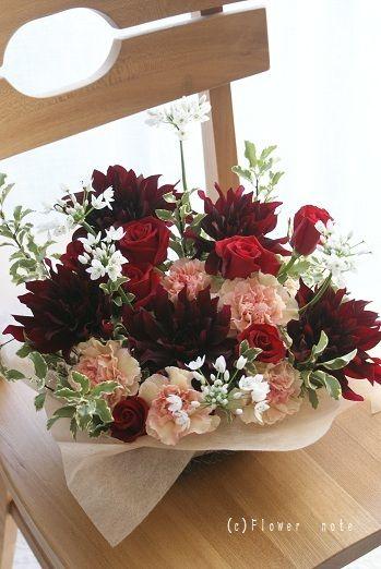 『男性へ贈る、大人可愛い♪フレッシュフラワー』 http://ameblo.jp/flower-note/entry-10772034410.html